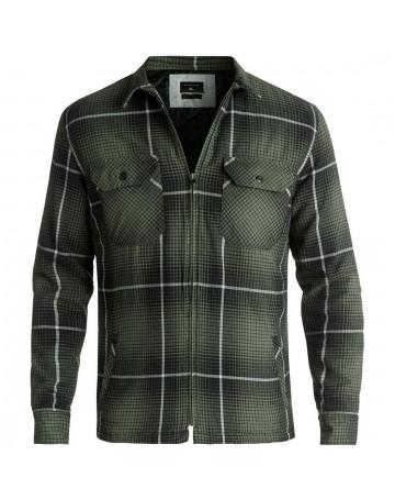 Camisa Quiksilver Manga Longa Cypress Road Verde