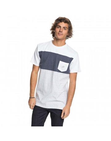 Camiseta Quiksilver Jacquard Block - Branco Mescla