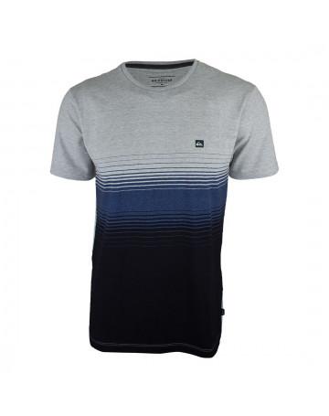 Camiseta Quiksilver Moline Stripes Cinza Mescla/Azul