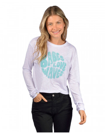Camiseta Rip Curl Wave Babe Branca