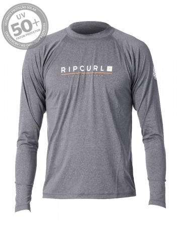 Camiseta Lycra Rip Curl Shockwave Relaxed ML - Chumbo