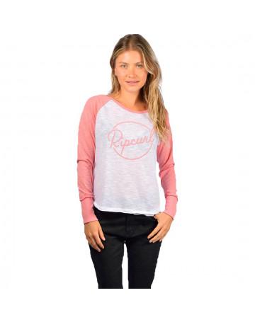 Camiseta Rip Curl Sun Daze - Branco Rosa