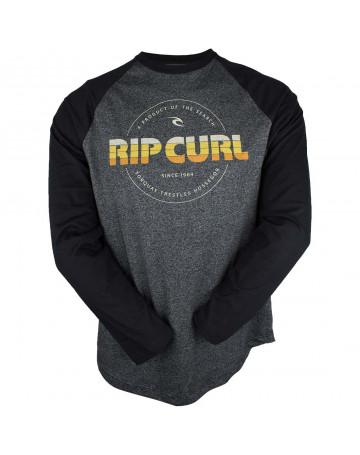 Camiseta Rip Curl Manga Longa Mama Good - Chumbo Mescla