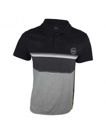 Camisa Polo Rip Curl Rapture - Preto/Branco