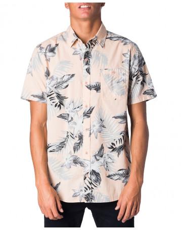 Camisa Rip Curl Alfies S/S - Coral