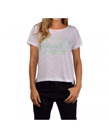 Camiseta Rip Curl Flamingo Beach - Branca