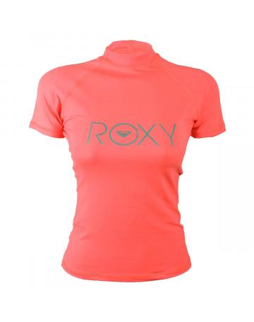 Camiseta Roxy Lycra Rashguard Surf Rosa