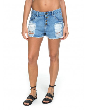 Short Roxy Jeans Simple Quest - Azul