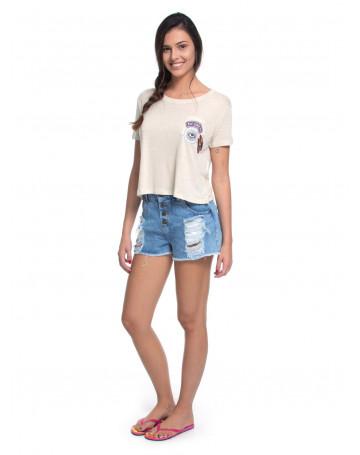 Camiseta Roxy Vintage Thunder - Creme