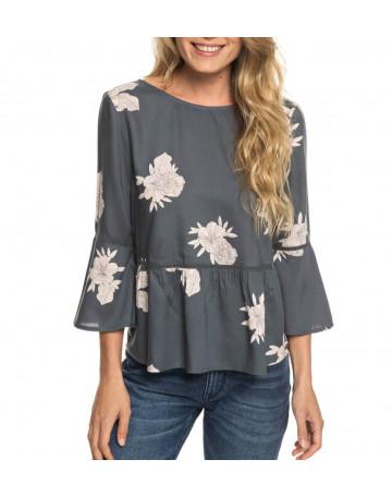 Blusa Roxy Estampada Brodway Colors - Cinza