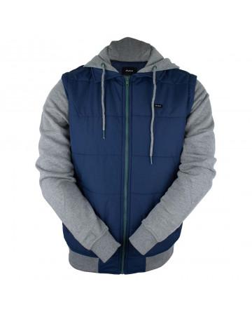 Jaqueta Rvca Puffer Zips - Azul