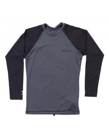 Camiseta RVCA Lycra Rashguard Solid LS - Cinza