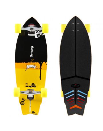 Skate Surfeeling Outline - Preto/Amarelo