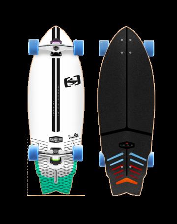 Skate Surfeeling Outline New - Branco/Azul