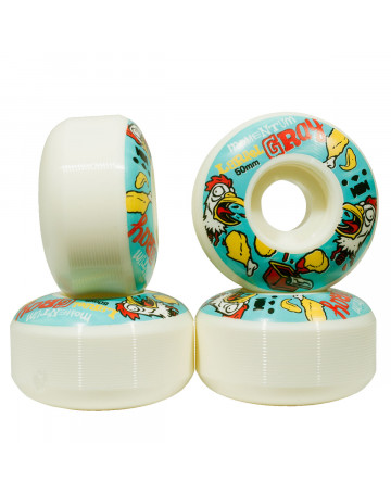 Roda Momentum Larrel Gray Slaughterhouse 50mm - Branco/Azul