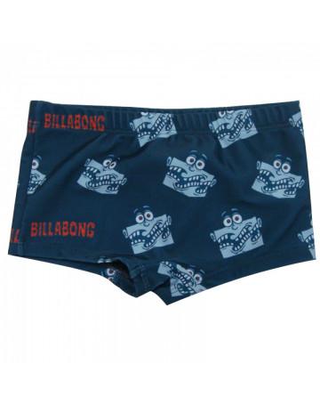 Sunga Billabong Billy Monster Infantil - Azul  7b943b9cbbc