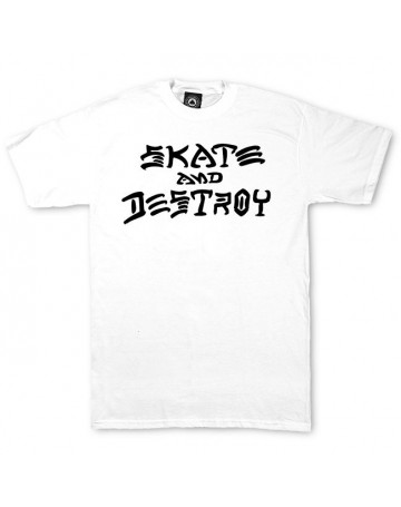 Camiseta Thrasher Skate and Destroy Branca