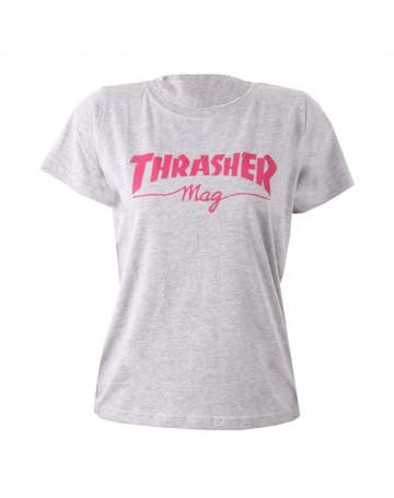 Camiseta Thrasher Skate Mag Cinza