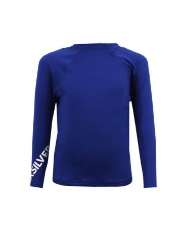 Camiseta Quiksilver Lycra Infantil Azul