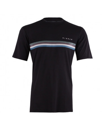 Camiseta Vissla Lycra MC The Trip - Preta
