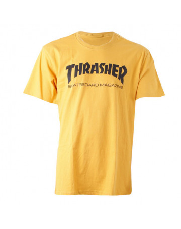 Camiseta Thrasher Skate Mag Amarelo