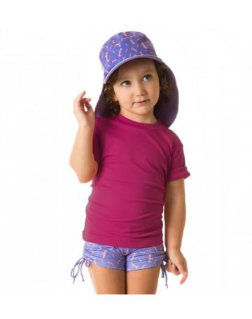 Camiseta UV Line UvPro Infantil MC - Pink
