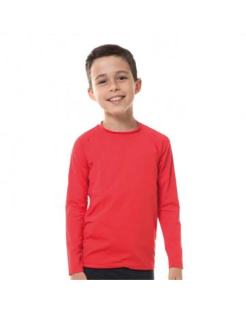 Camiseta UV Line UvPro Infantil ML - Vermelho