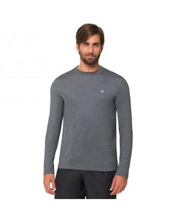Camiseta UV Line Lycra Pro - Chumbo Mescla