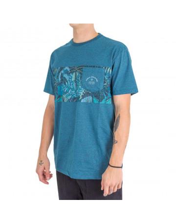 Camiseta Vissla Tropical Maui Azul Mescla