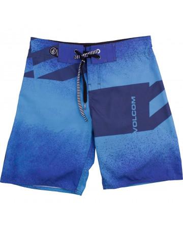 Bermuda Volcom Juvenil Lido Block Spray - Azul