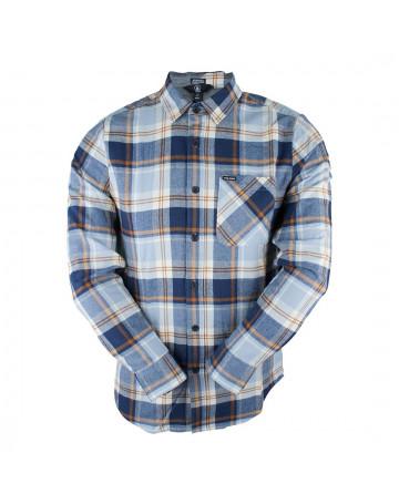 Camisa Volcom Xadrez Caden Plaid Azul