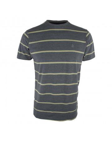 Camiseta Volcom Pure Stripe - Chumbo Mescla