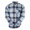 Camisa Volcom Xadrez Caden Plaid Azul 1