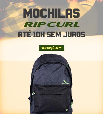 Volta às Aulas Julho 2019 - Mochilas Rip Curl em oferta