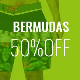 Bermudas até 50% OFF