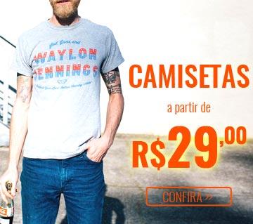 Camisetas a partir de R$ 29