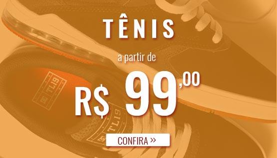Tênis a partir de 2x de R$ 99,00