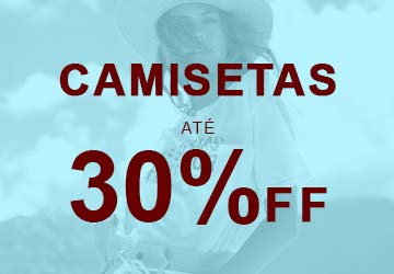 Ofertas Feminino - Camisetas até 30% OFF