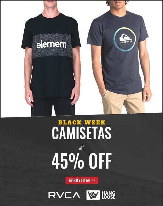 Camisetas até 45% OFF