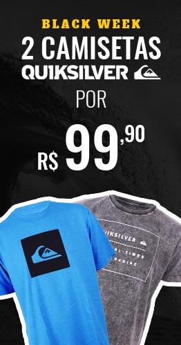 2 Camisetas Quiksilver por R$ 99,90