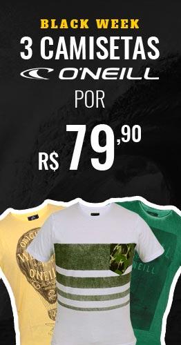 3 Camisetas O'Neill por R$ 79,90