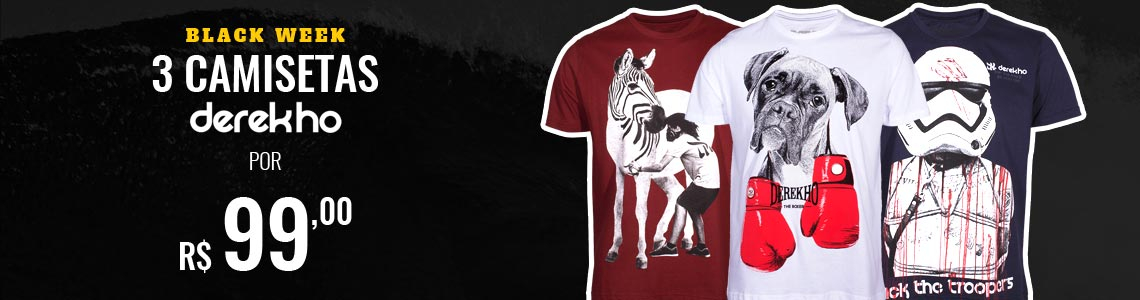 3 Camisetas Derek Ho por R$ 99,00